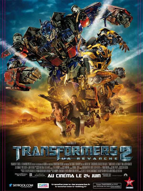 affiche du film Transformers 2 : La revanche
