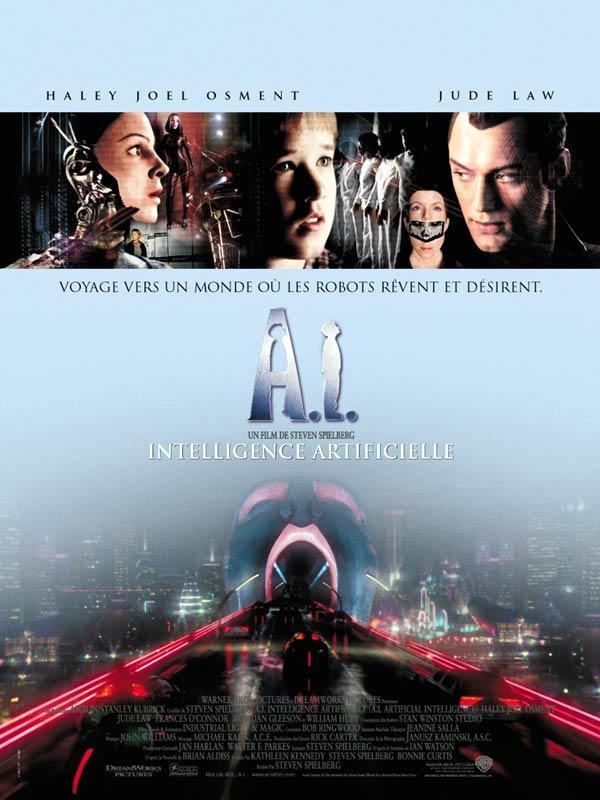 affiche du film A.I. Intelligence artificielle