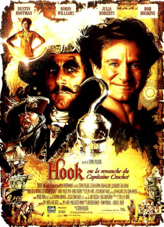 affiche du film Hook ou la revanche du Capitaine Crochet