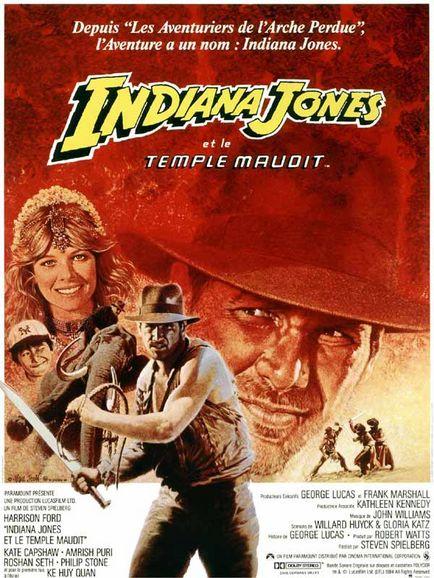 affiche du film Indiana Jones et le Temple maudit