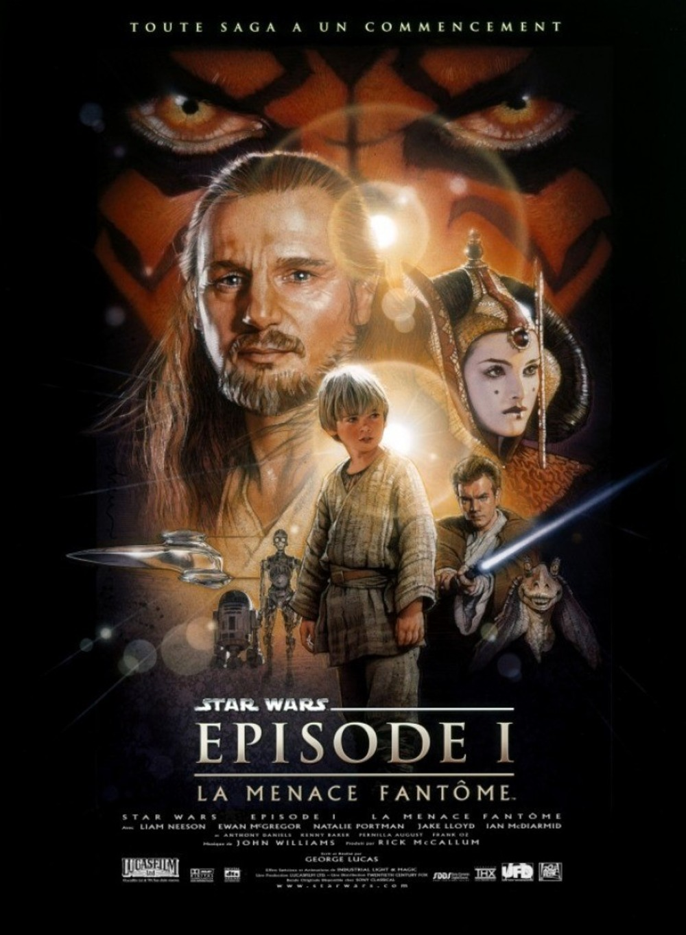 affiche du film Star Wars : Épisode 1 - La menace fantôme