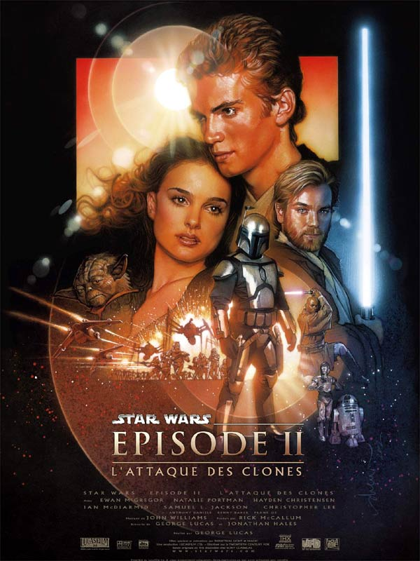 affiche du film Star Wars : Épisode 2 - L'attaque des clones
