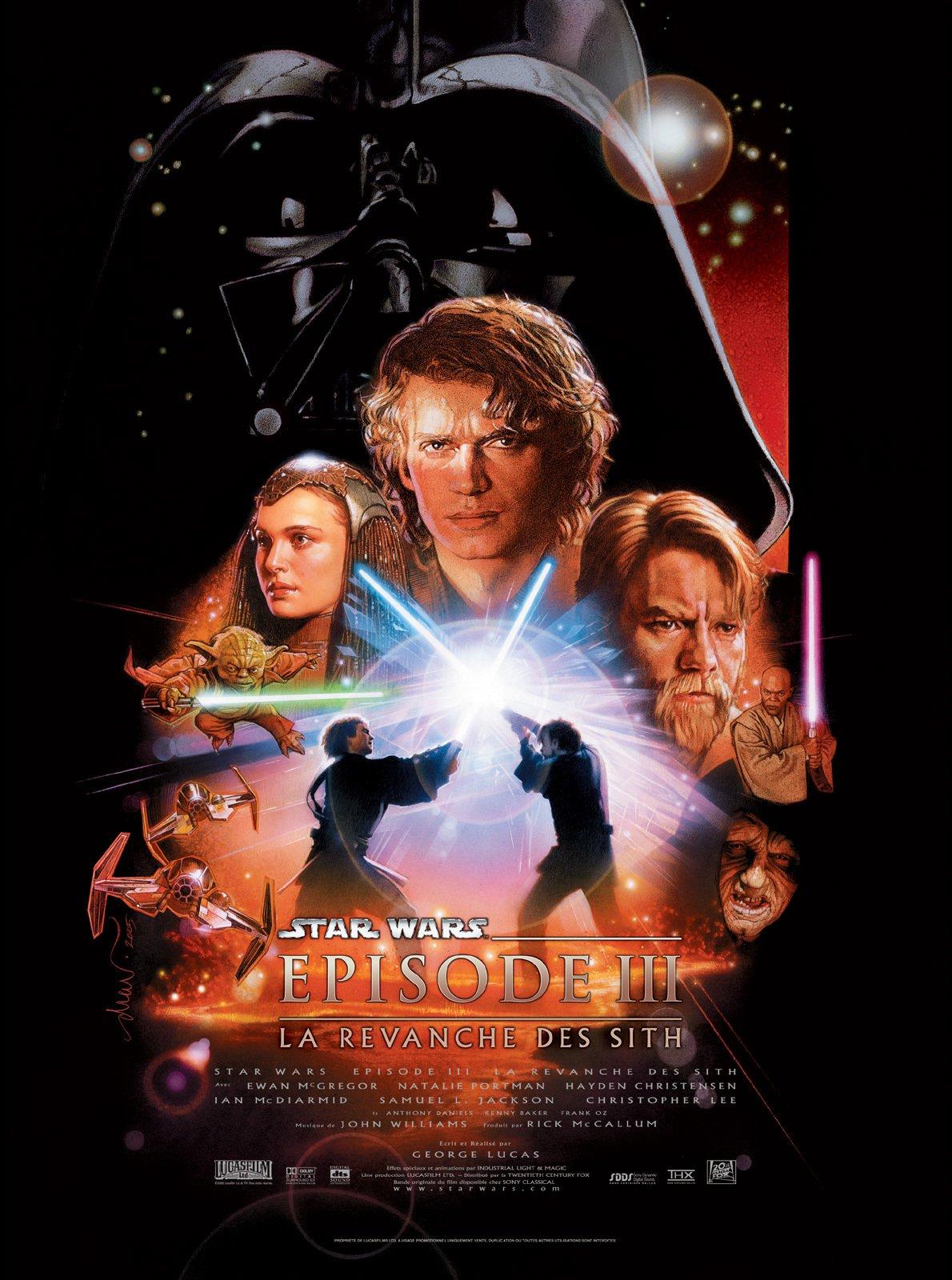 affiche du film Star Wars : Épisode 3 - La revanche des Sith