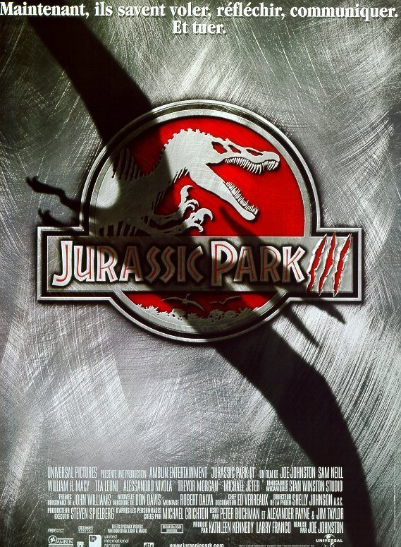 affiche du film Jurassic Park 3