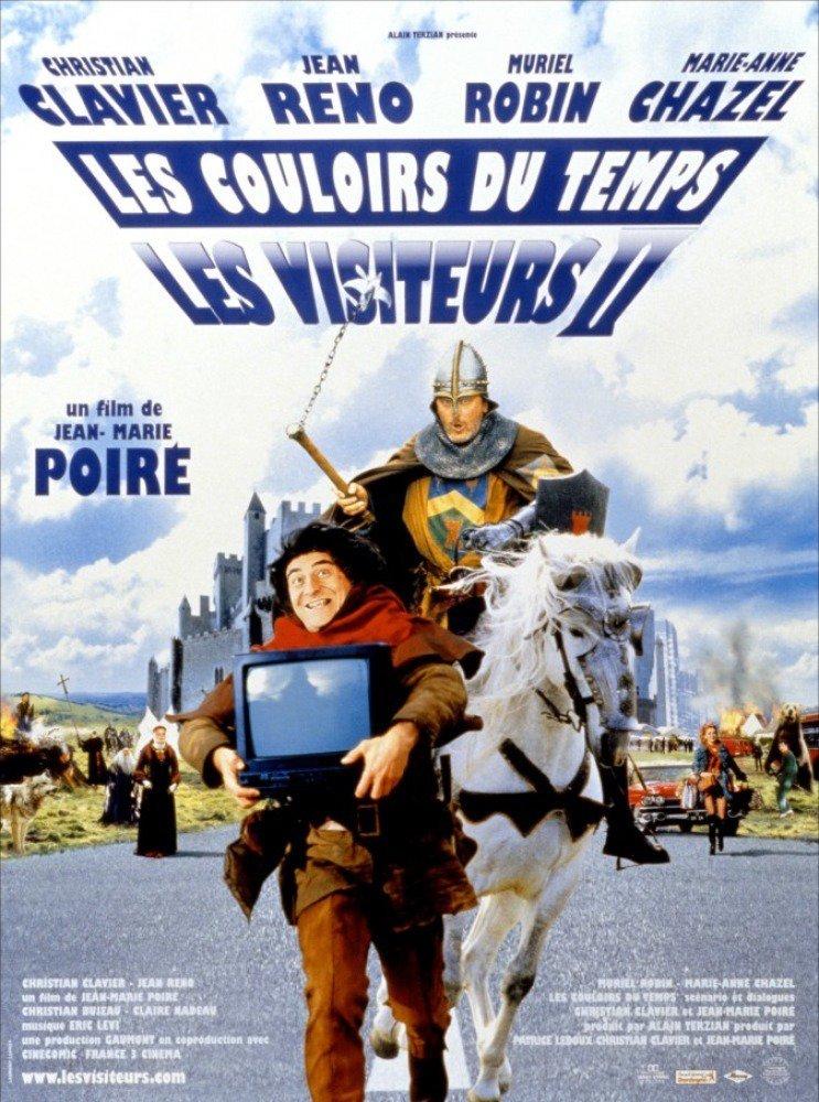 affiche du film Les Visiteurs II : Les Couloirs du temps