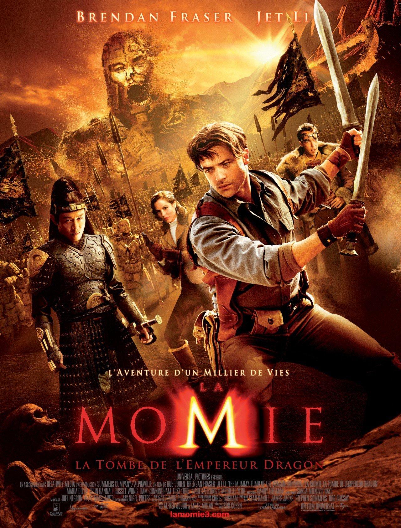 affiche du film La Momie : La Tombe de l'empereur dragon