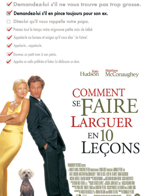 affiche du film Comment se faire larguer en 10 leçons