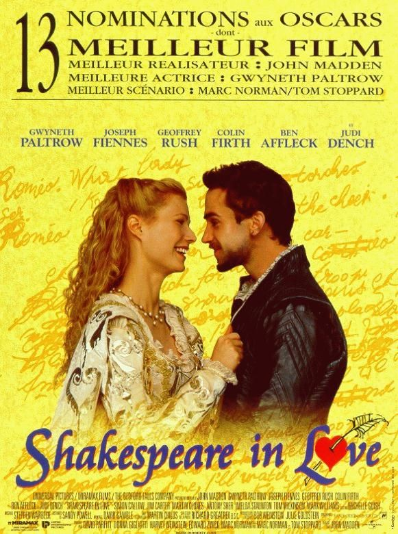 affiche du film Shakespeare in Love