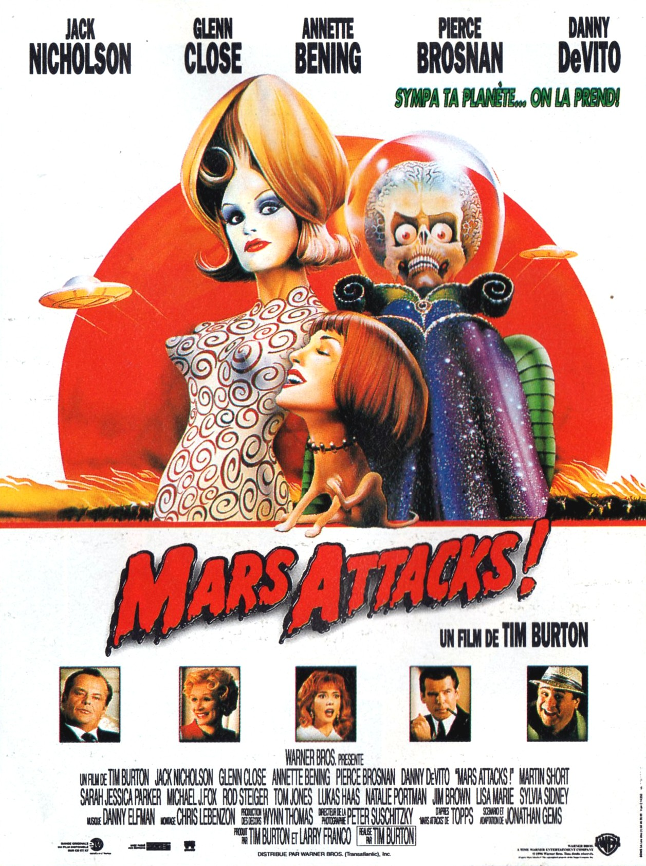 affiche du film Mars Attacks!