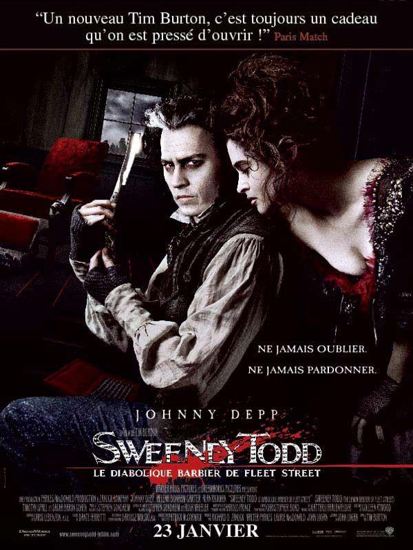 affiche du film Sweeney Todd, le diabolique barbier de Fleet Street