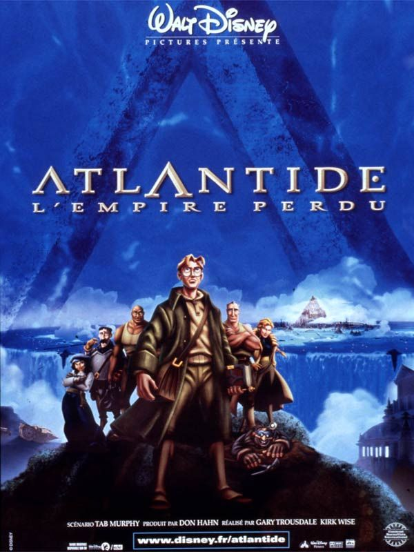affiche du film Atlantide, l'empire perdu