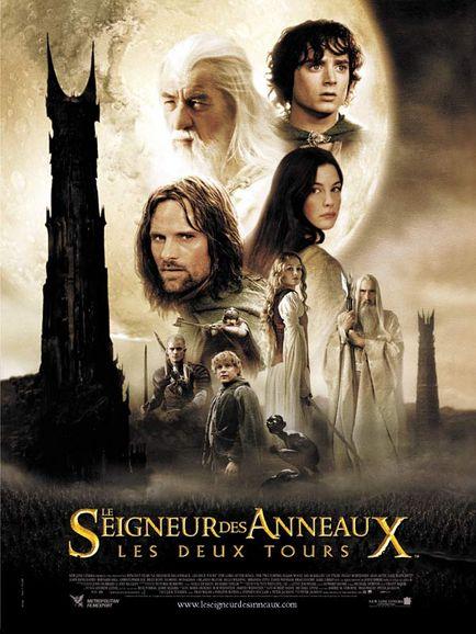 affiche du film Le Seigneur des Anneaux : Les Deux Tours