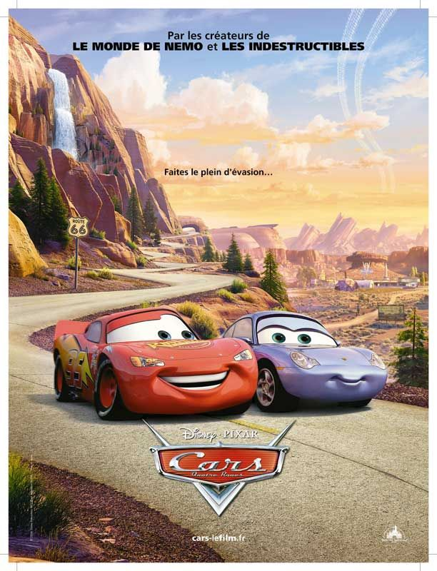 affiche du film Cars : Quatre roues