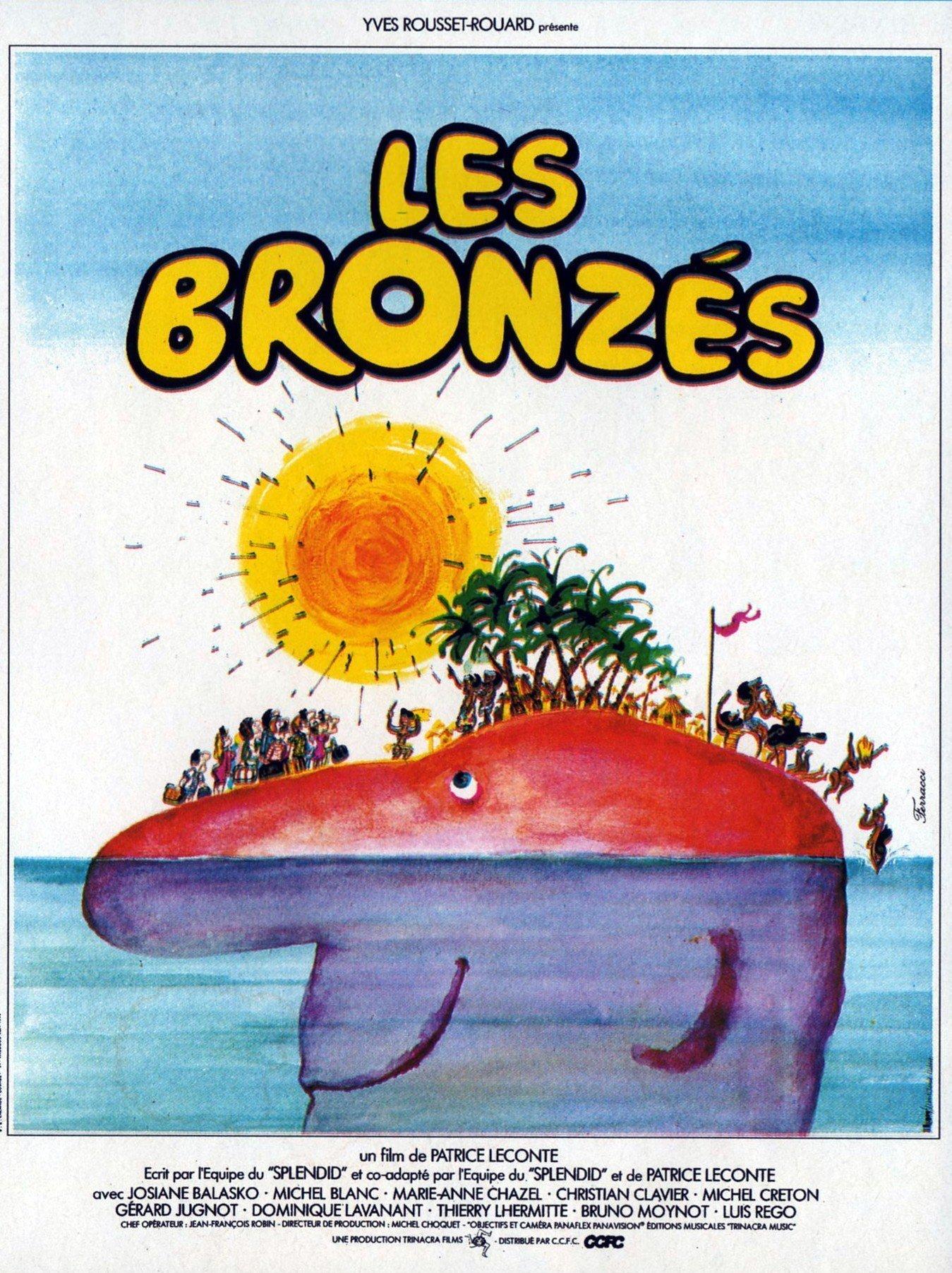 affiche du film Les bronzés