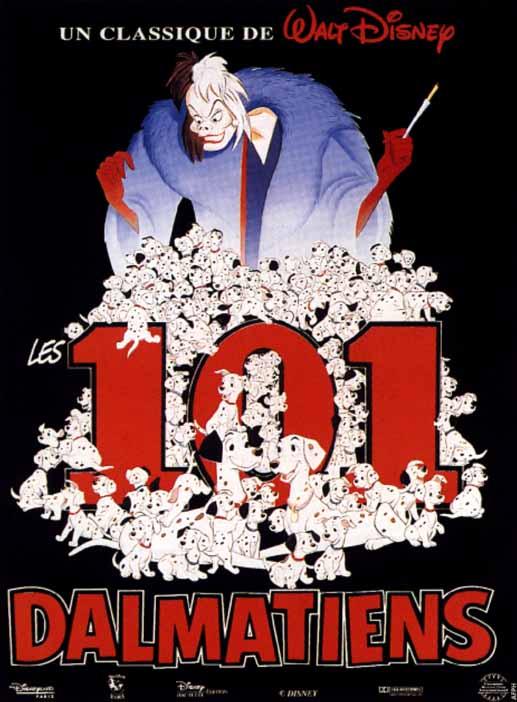 affiche du film Les 101 dalmatiens (1961)