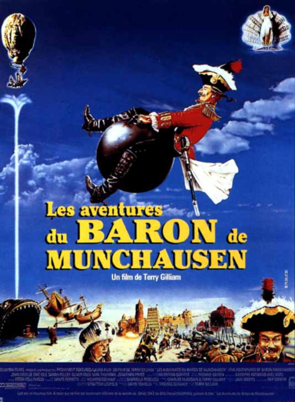 affiche du film Les aventures du baron de Münchausen