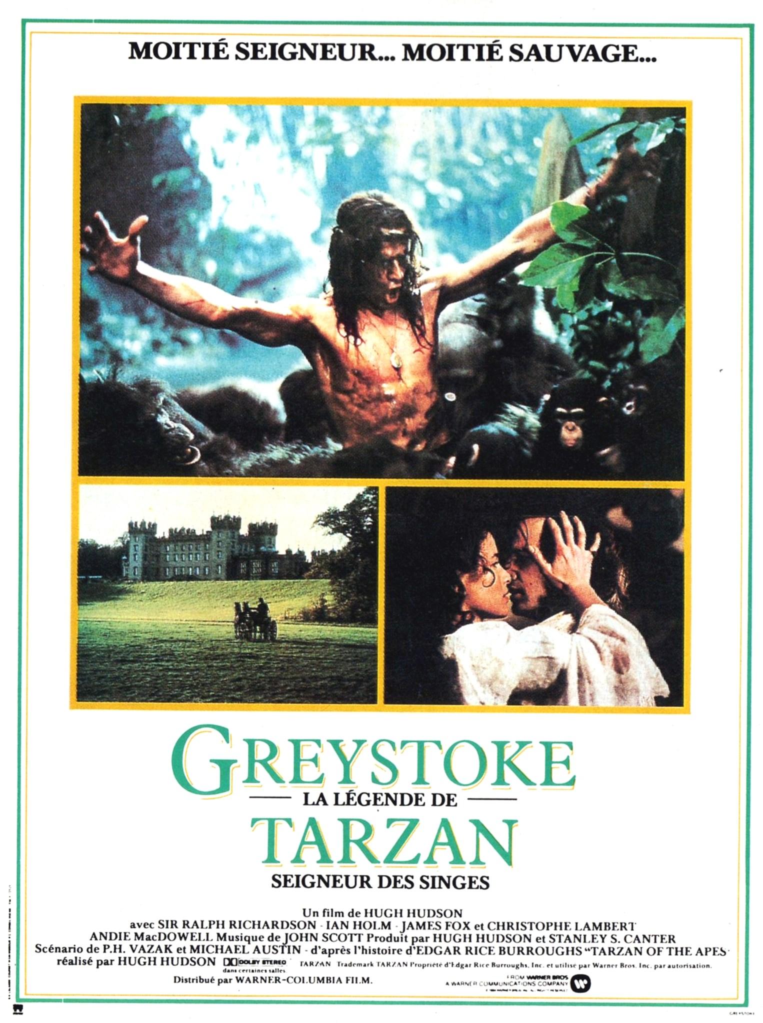 affiche du film Greystoke, la légende de Tarzan, seigneur des singes