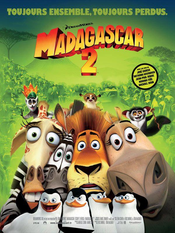 affiche du film Madagascar 2 : La grande évasion