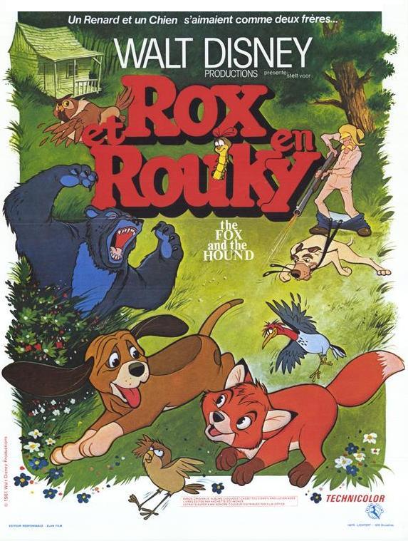 affiche du film Rox et Rouky