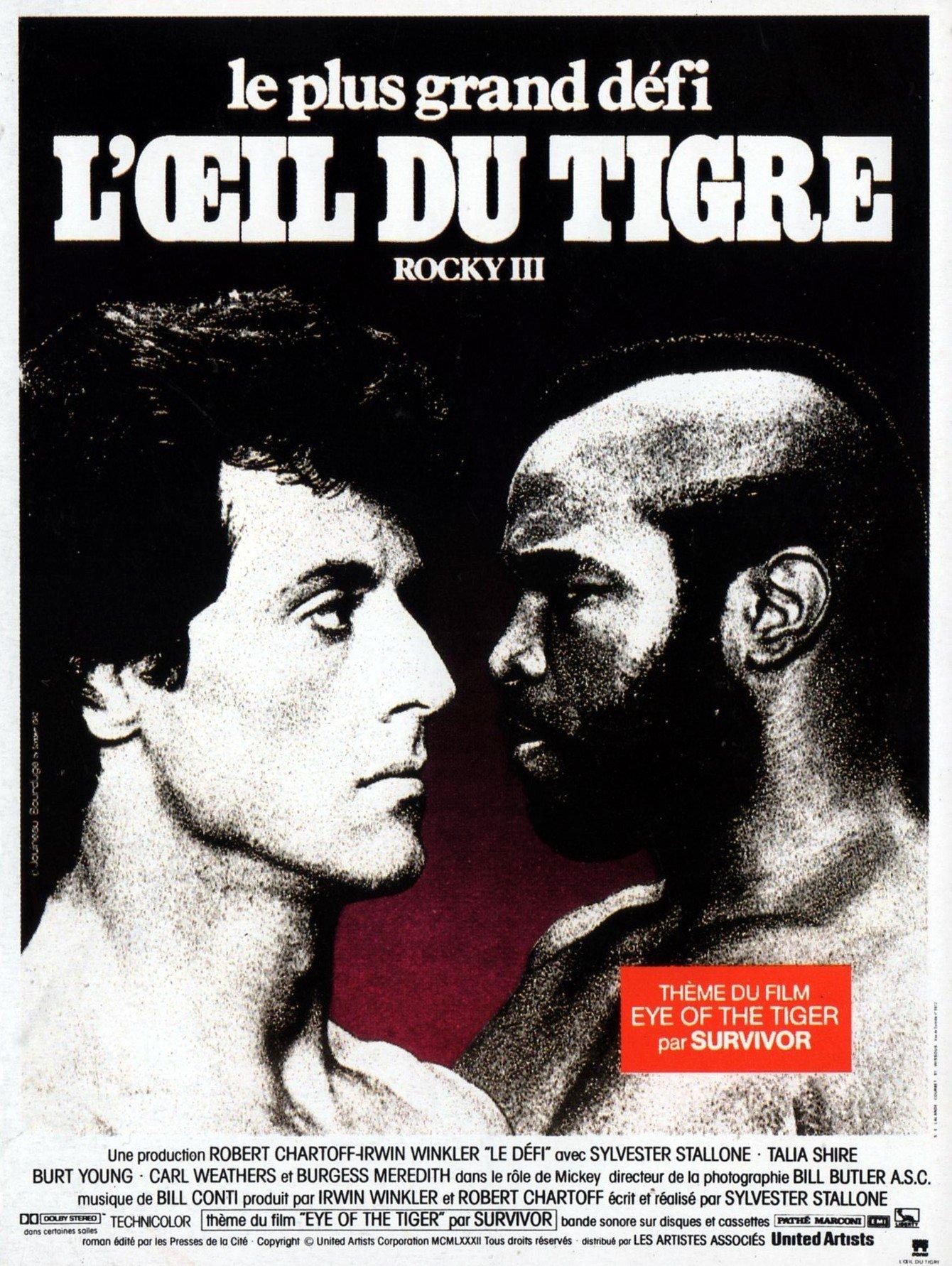 affiche du film Rocky III, l'œil du tigre