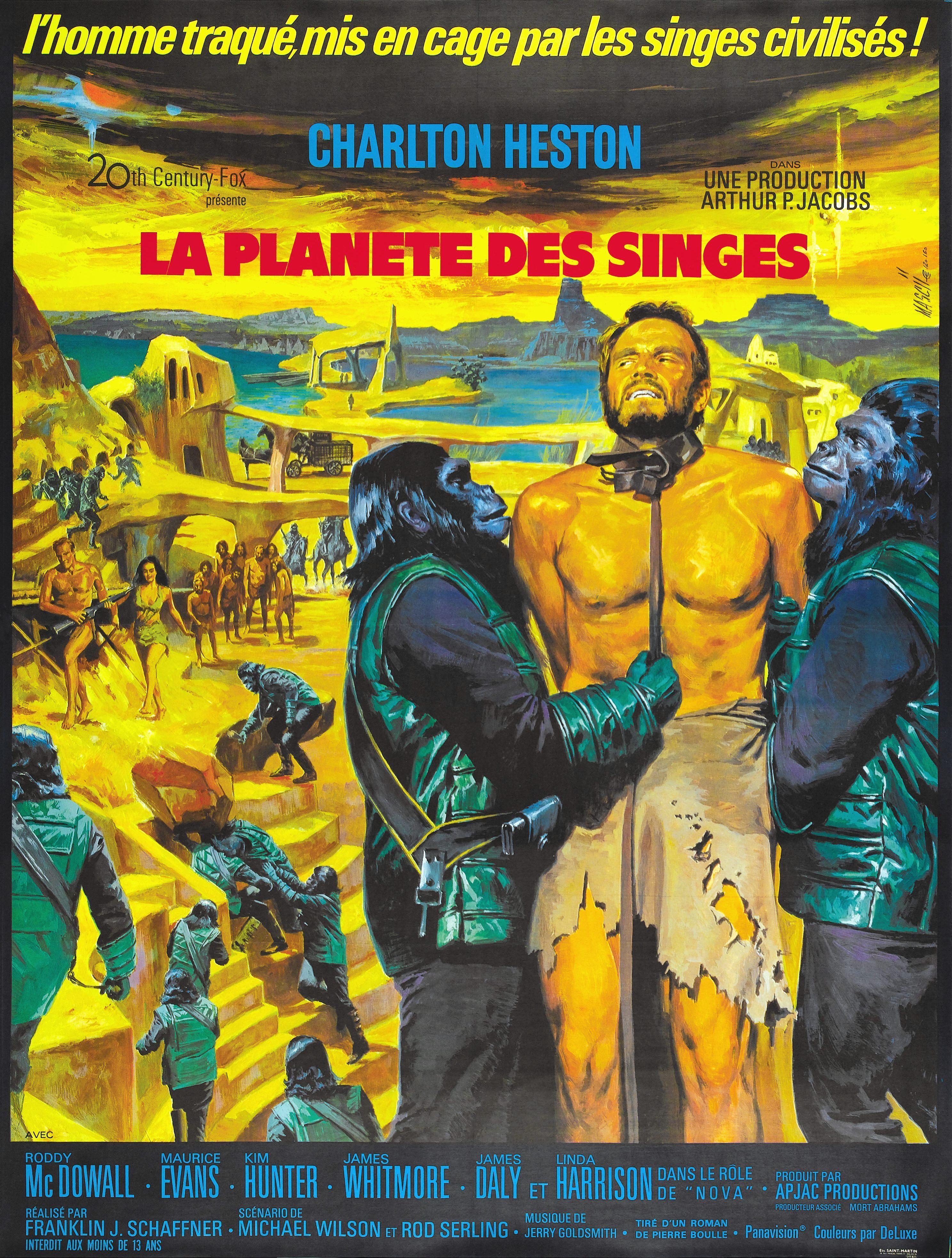 affiche du film La planète des singes (1968)