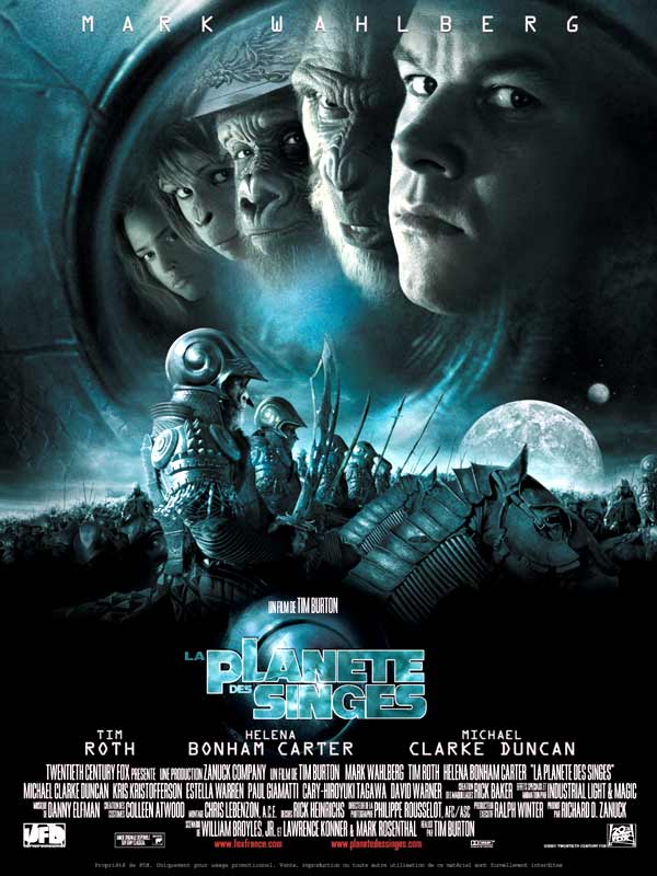 affiche du film La planète des singes (2001)