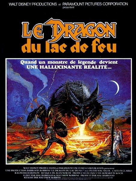 affiche du film Le dragon du lac de feu