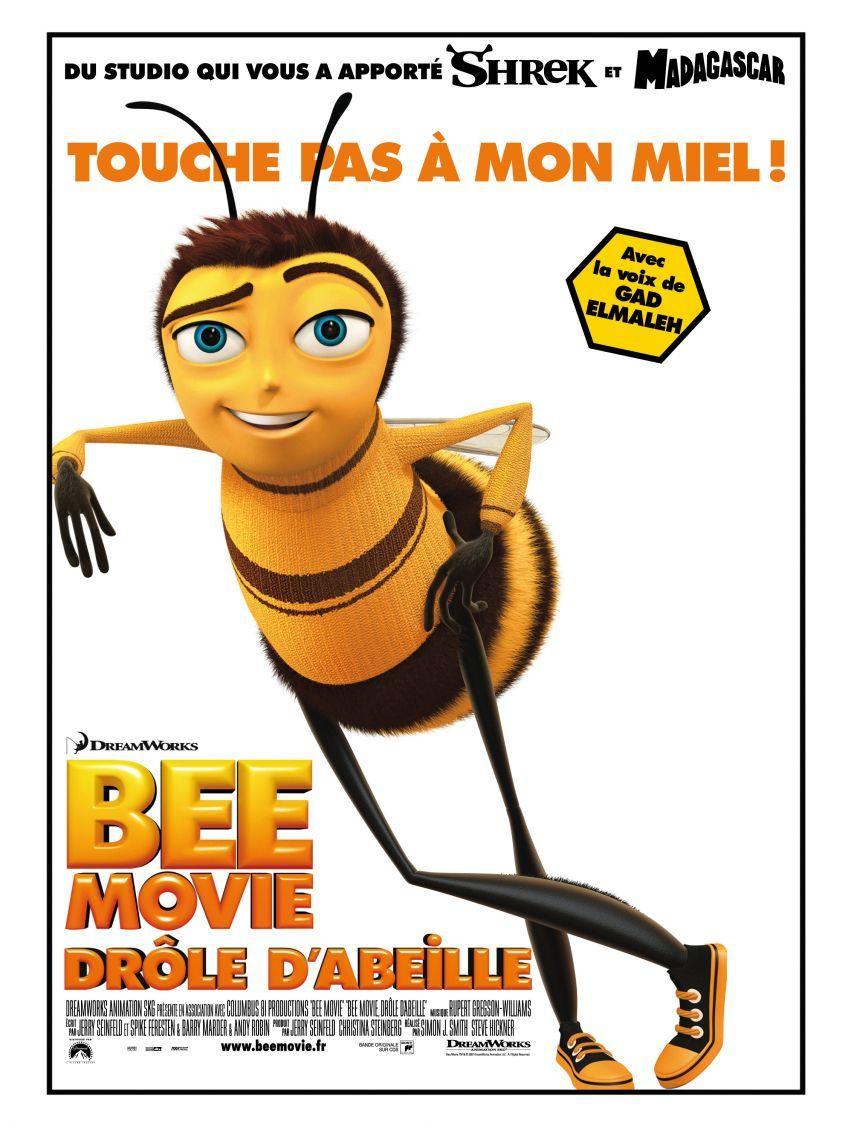 affiche du film Bee Movie : Drôle d'abeille