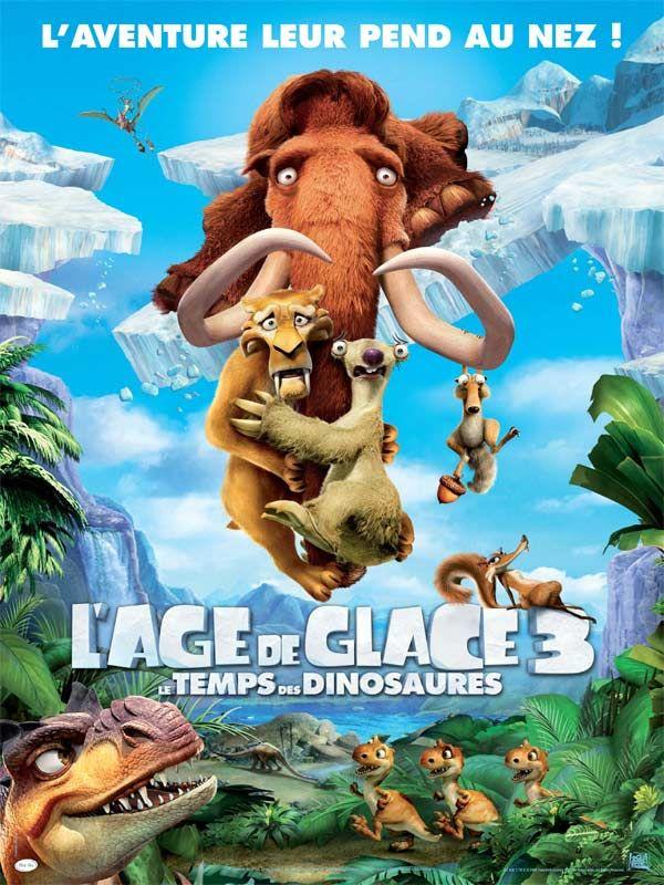 affiche du film L'âge de glace 3 : Le temps des dinosaures