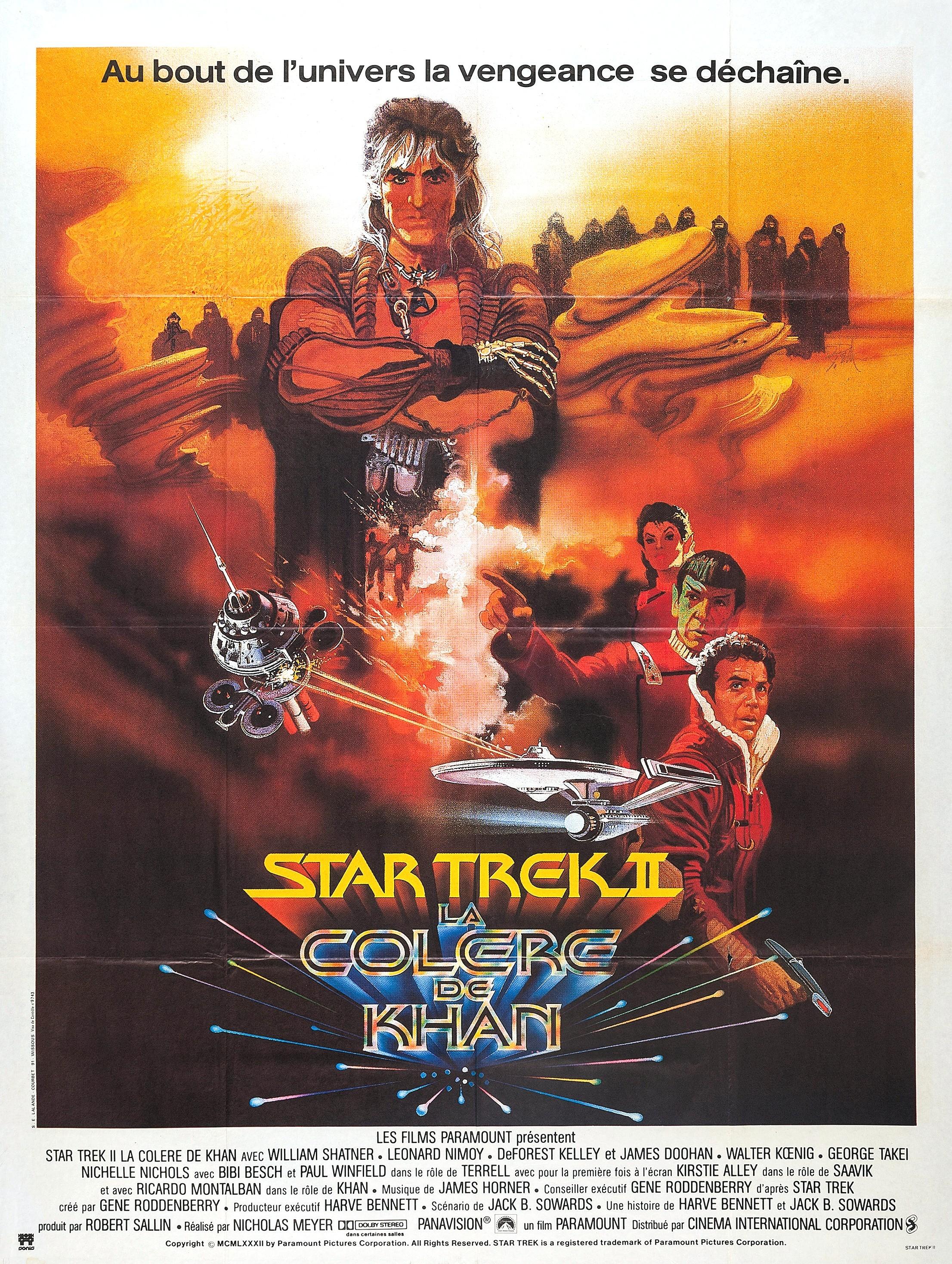 affiche du film Star Trek II : La colère de Khan