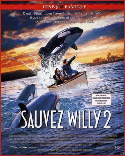 affiche du film Sauvez Willy 2