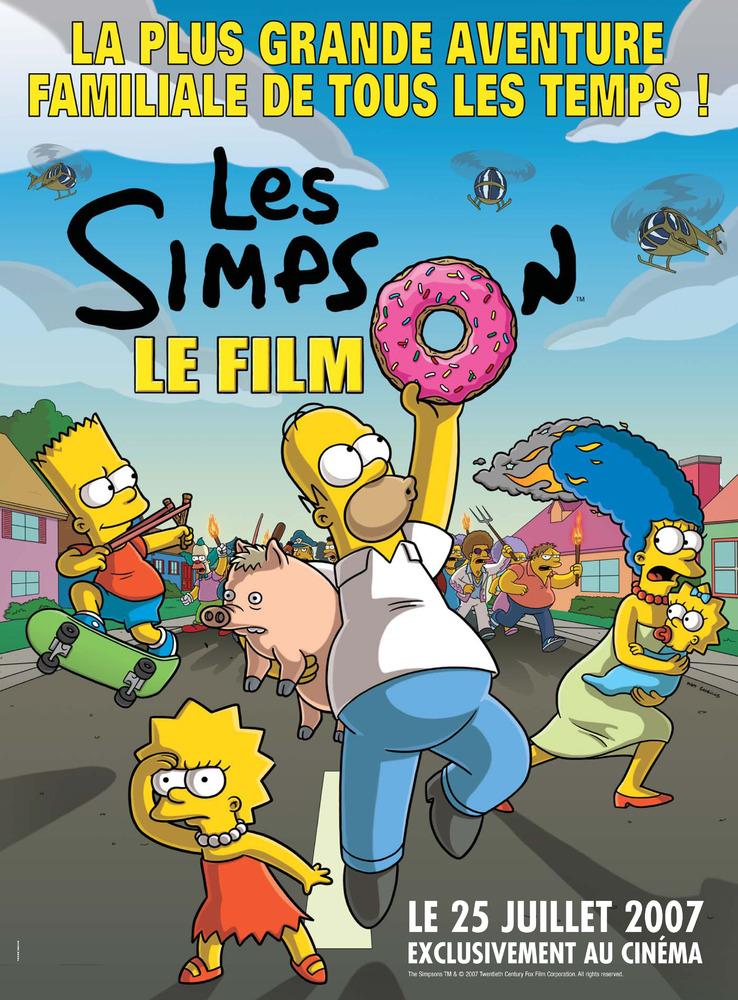 affiche du film Les Simpson, le film