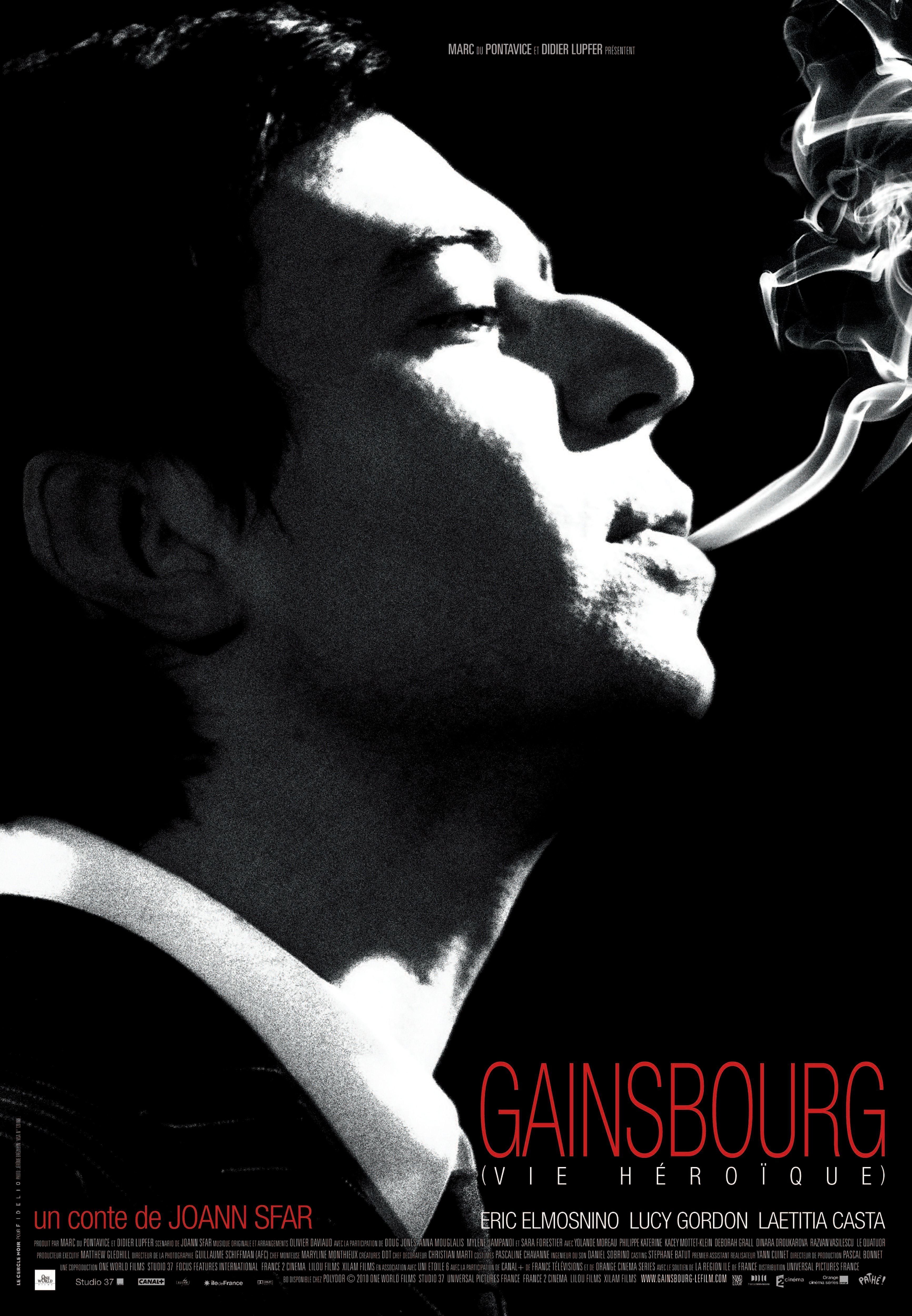 affiche du film Gainsbourg, Vie héroïque