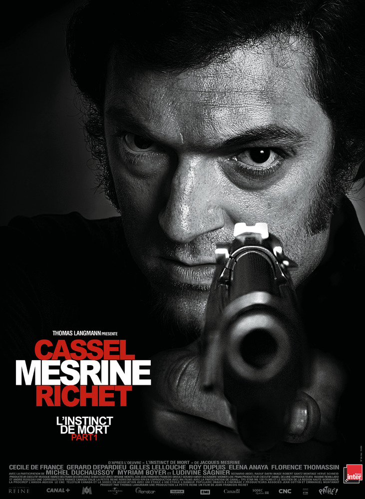affiche du film Mesrine, partie 1 : L'instinct de mort