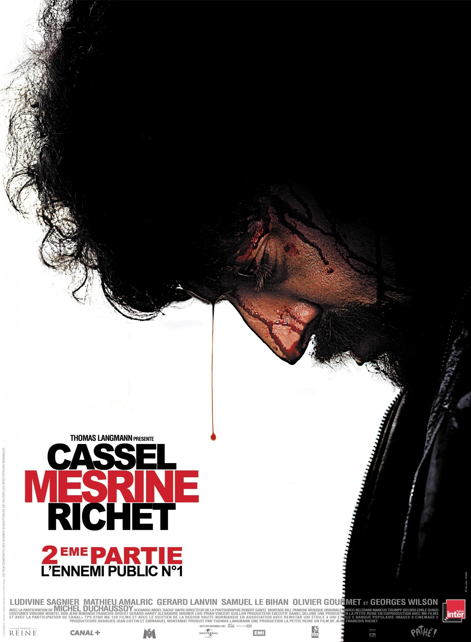affiche du film Mesrine, partie 2 : L'ennemi public n°1
