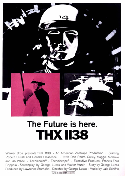 affiche du film THX 1138