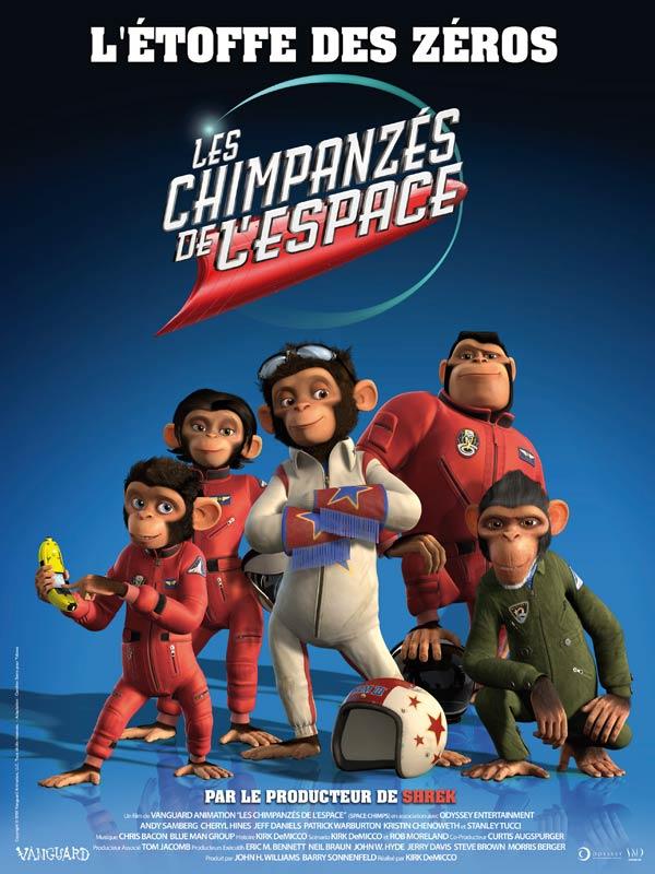 affiche du film Les Chimpanzés de l'espace