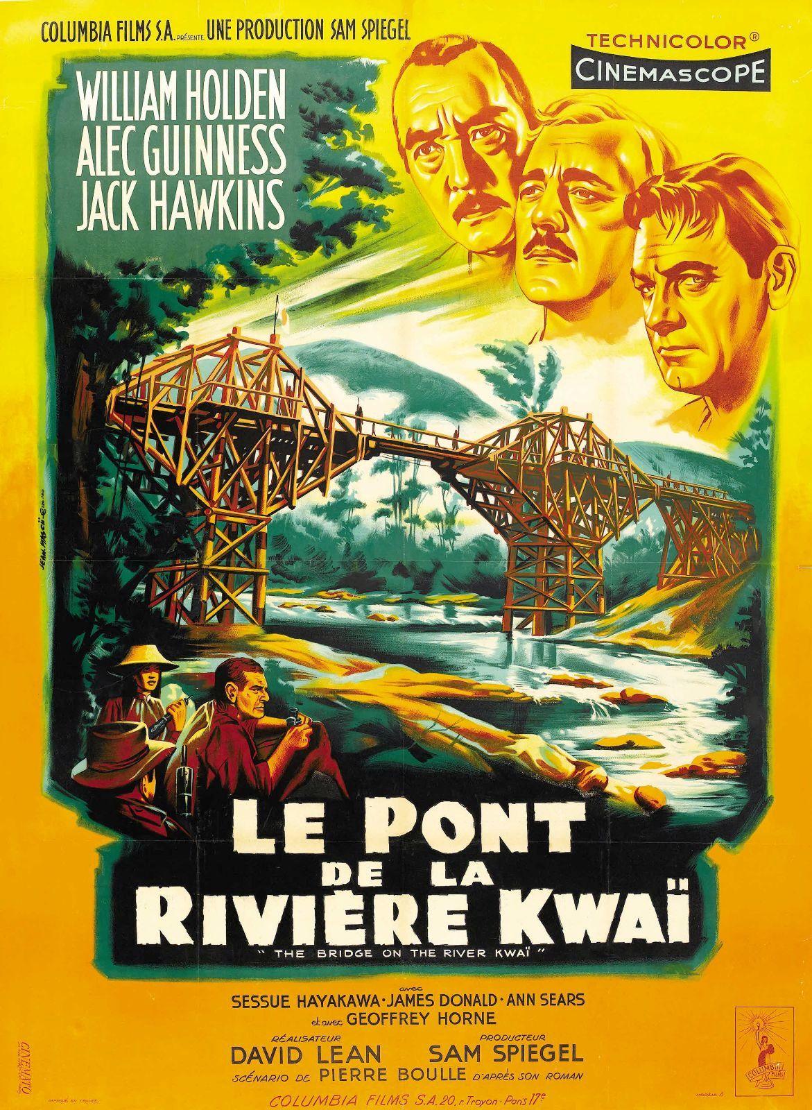 affiche du film Le Pont de la rivière Kwaï