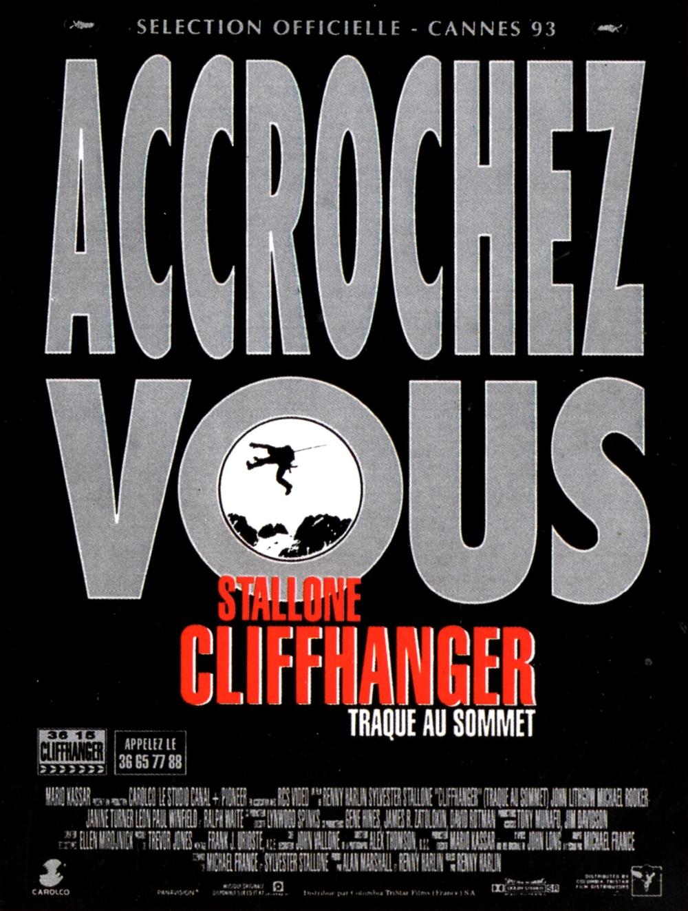 affiche du film Cliffhanger, traque au sommet
