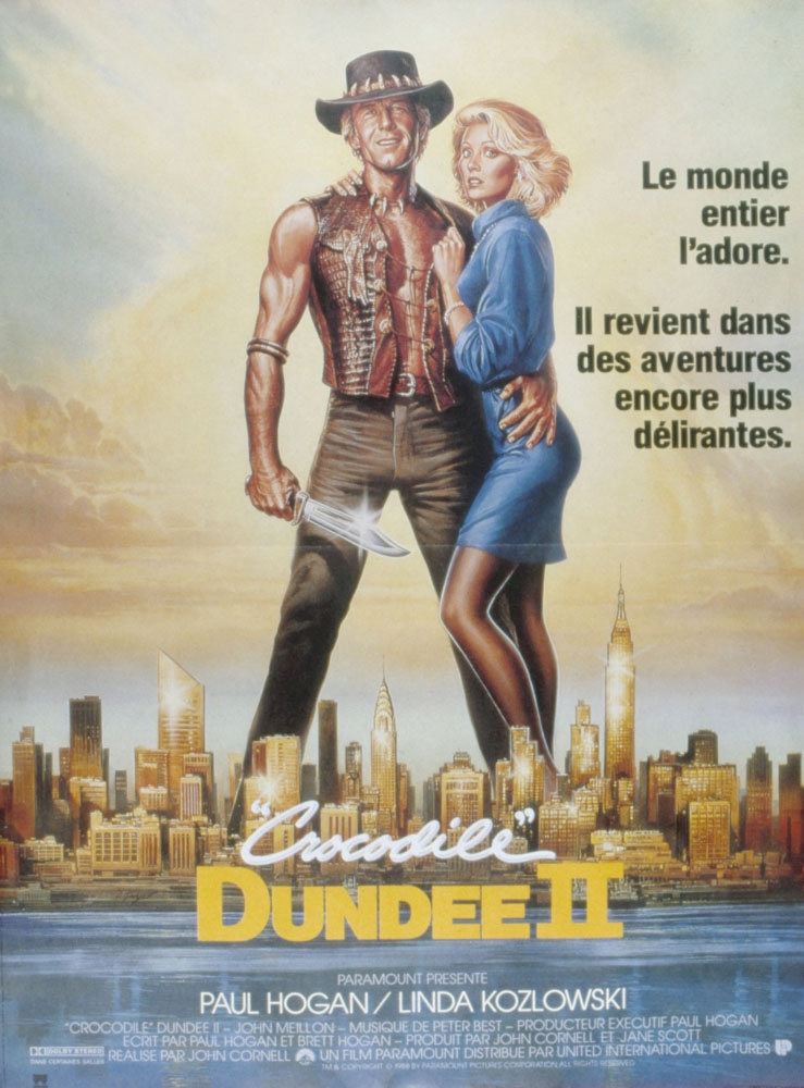 affiche du film Crocodile Dundee II