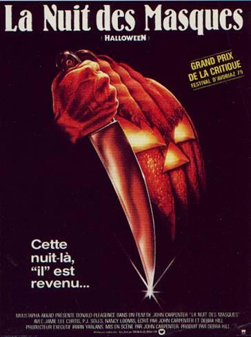 affiche du film Halloween, la nuit des masques