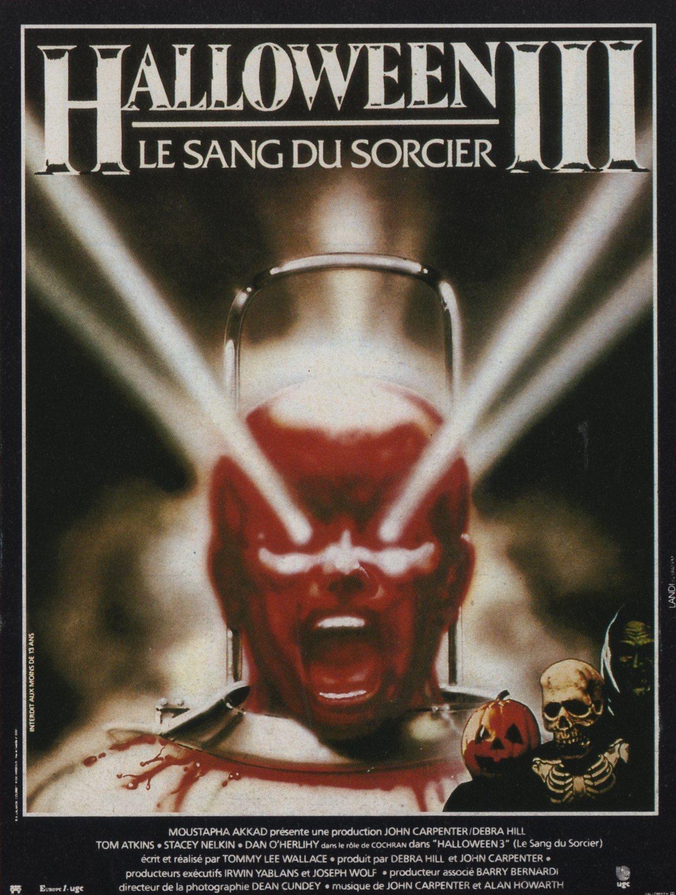 affiche du film Halloween 3 : Le sang du sorcier