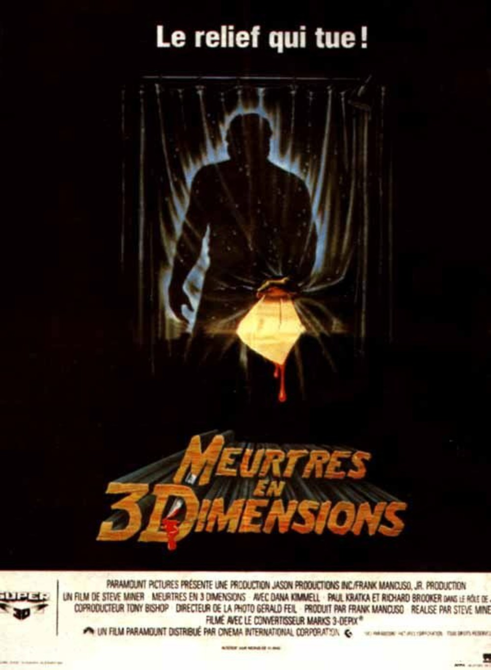 affiche du film Vendredi 13 - Chapitre 3 : Meurtres en 3 dimensions