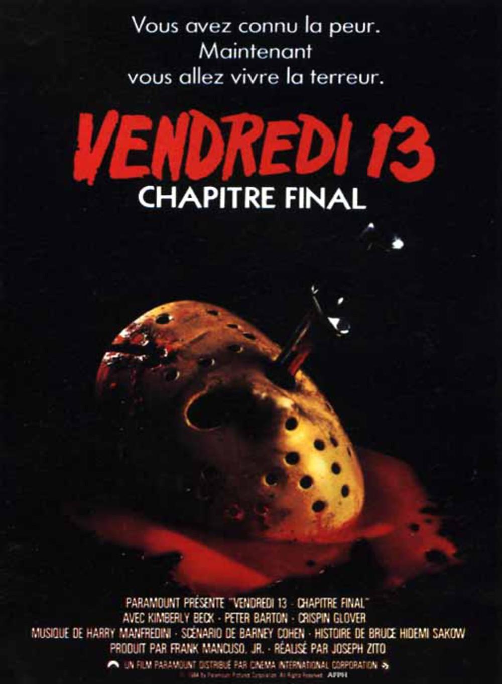 affiche du film Vendredi 13 : Chapitre final