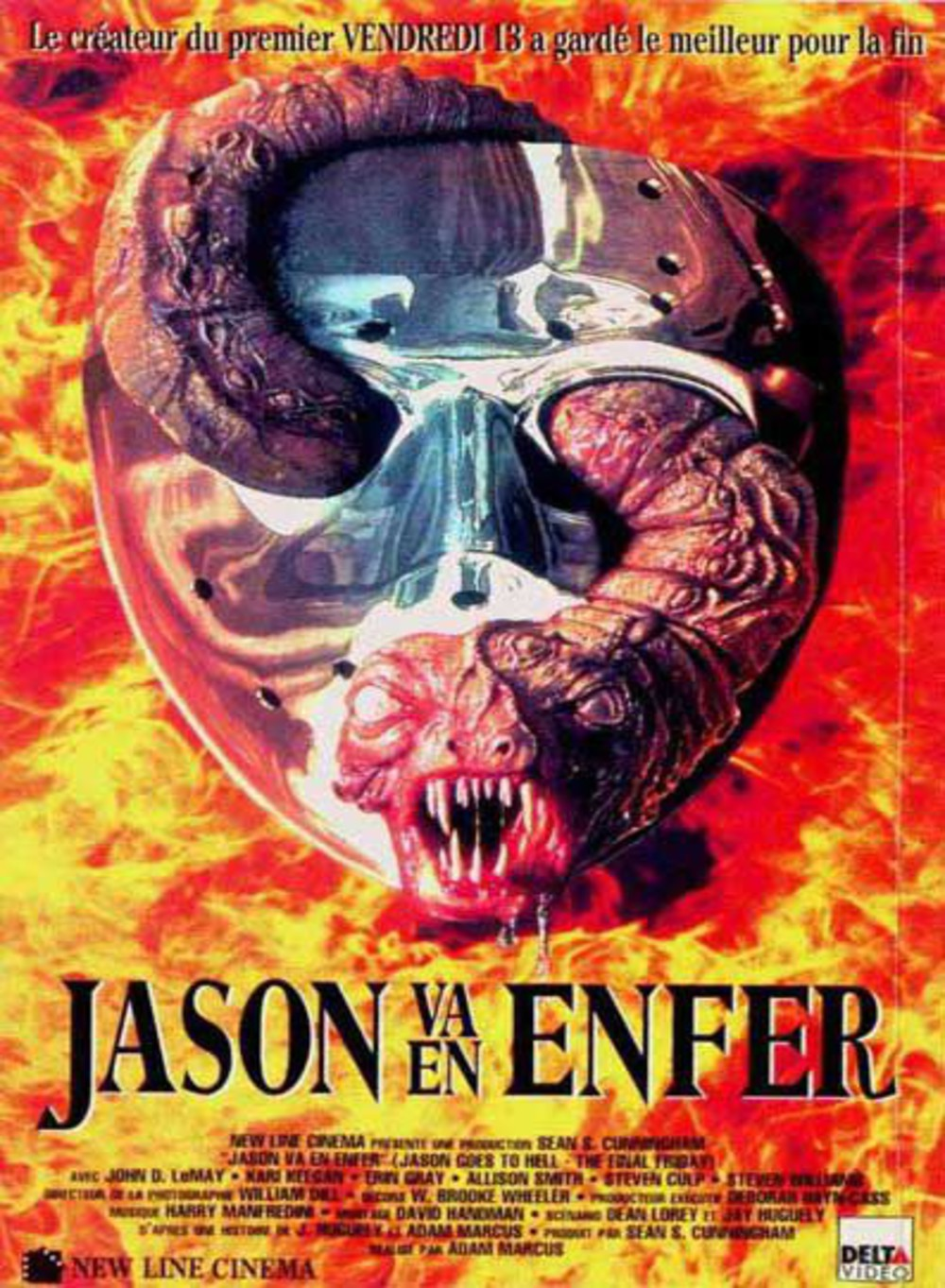 affiche du film Vendredi 13 : Jason va en enfer