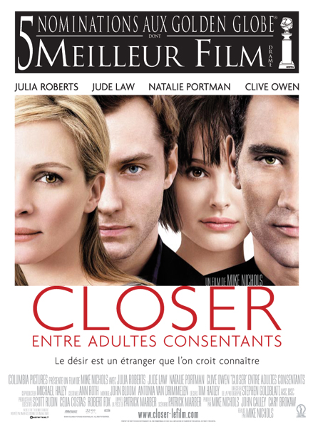 affiche du film Closer: entre adultes consentants