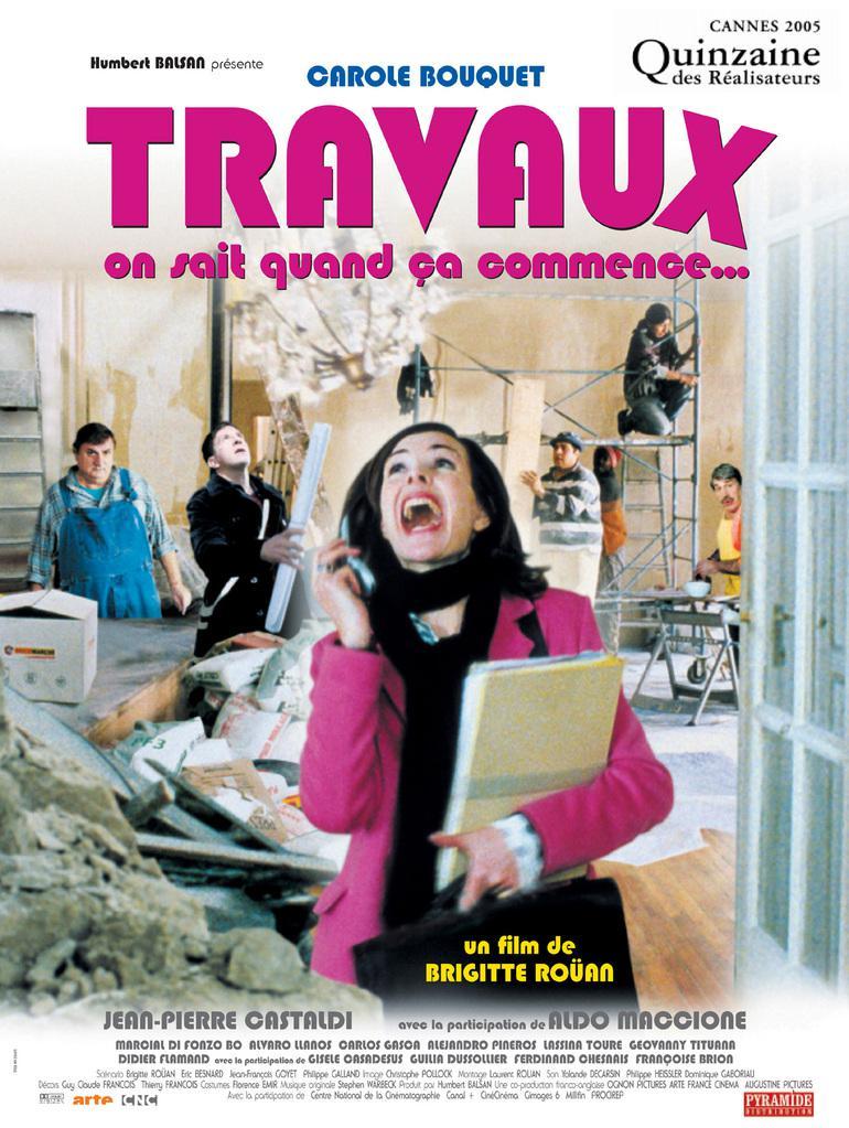 affiche du film Travaux,  on sait quand ça commence...