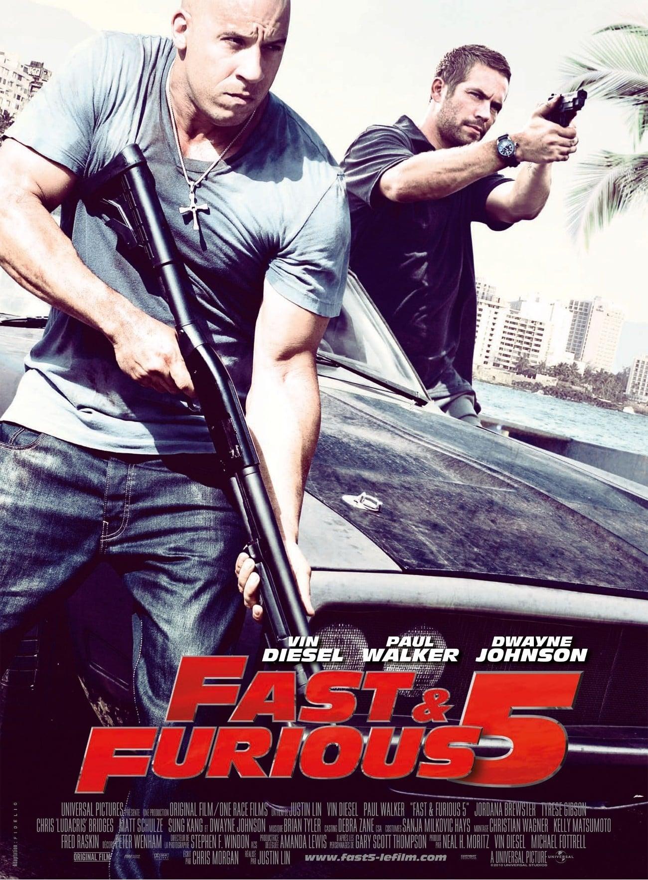 affiche du film Fast & Furious 5