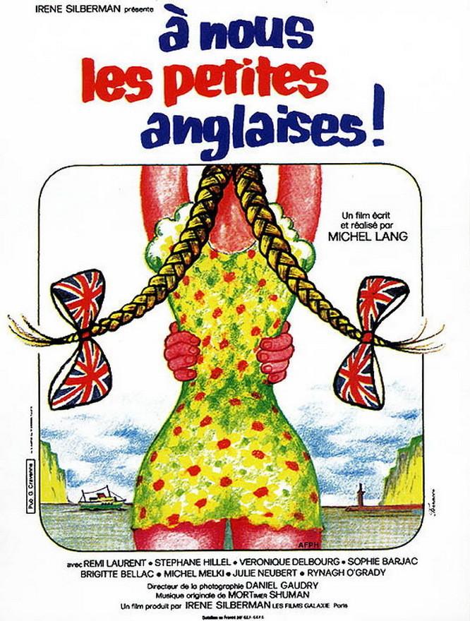 affiche du film À nous les petites Anglaises !