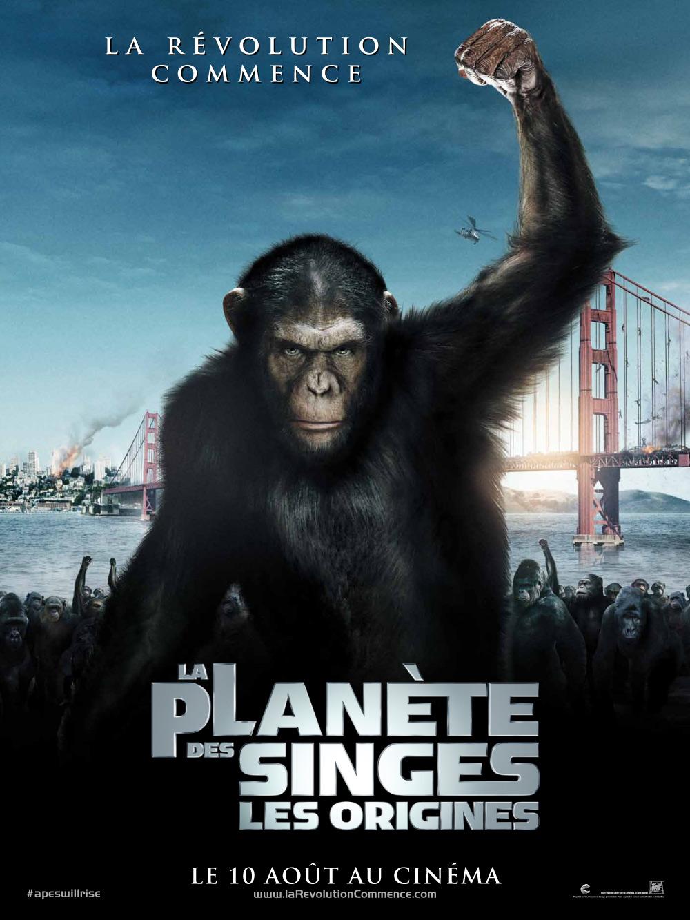 affiche du film La planète des singes: Les origines